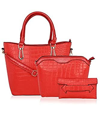 Kleio Elegant Formal Combo Bag in Bag Shoulder Handbag for Women / Girls