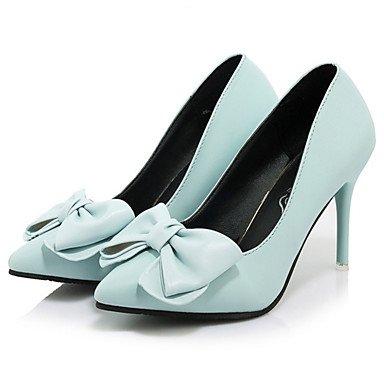 RTRY Donna Di Talloni Di Base Molla Pompa Di Caduta Pu Abbigliamento Casual Stiletto Heel Arrossendo Rosa Blu Nero 2A-2 3/4In US6.5-7 / EU37 / UK4.5-5 / CN37