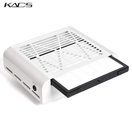 KADS Nail Suction Staubabsaugung Fan Collector Nail Staubsauger Fan Kein verschütten Filter (220V EU Plug) -