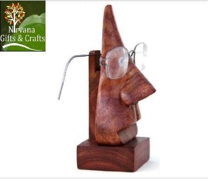 Unbekannt Christmas Time, Handmade Nase geformte Rosen-Brille Sonnenbrille Ständer