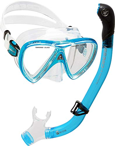 Cressi Ikarus & Orion Kits máscara Tubo, Adultos Unisex, Transparent/Translucent Light Blue, Un tamaño