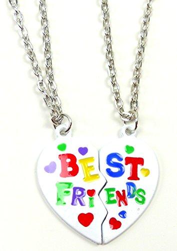 Halskette-BEST FRIENDS-Pärchenkette-Freundschaftskette BFw1 B1W1x