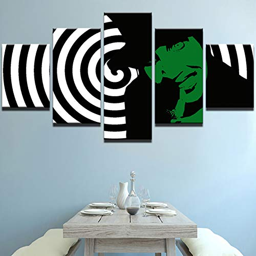 nd Wohnkultur Wandkunst Bilder 5 Panel Abstrakte Zeichen Poster Wohnzimmer HD Gedruckt Foto ()