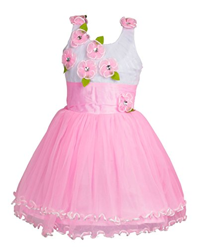 My Lil Princess Pink Floral Frock_Net Fabric_3 to 4 Years