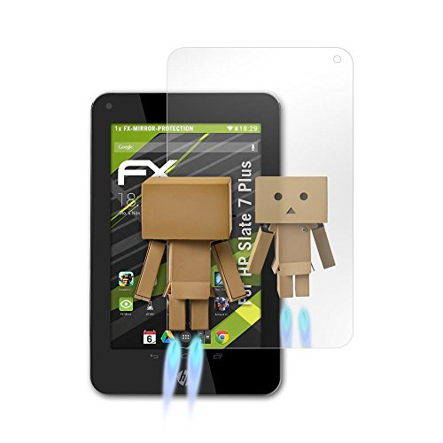 Slate 7 Plus Hp (atFoliX Displayschutz für HP Slate 7 Plus Spiegelfolie - FX-Mirror Folie mit Spiegeleffekt)