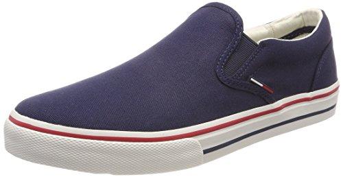 Hilfiger Denim Herren Tommy Jeans Textile Slip On Sneaker Grau (Ink 006) 42 EU