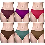 IVAZA Cotton Women Hipster Multicolor Panty (Pack of 6)