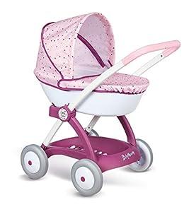 Smoby Baby Nurse 254103 - Cochecito de bebé, Color Rosa