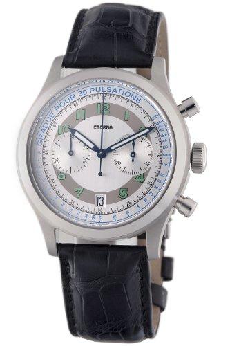 Eterna Herren-Armbanduhr 42mm Armband Aligatorleder Automatik 1942-41-64-1177