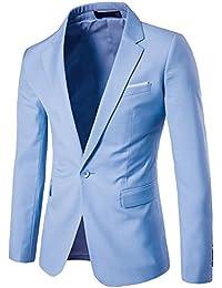 30d26525dc15c ZhuiKun Blazer Hombre Americana Chaqueta Slim Fit Casual Abrigos