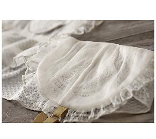 RedAlphabet Unterwäsche aus einem Stück sexy dünner französischer Spitze bestickter Schalen-BH, kein Stahlring, Verstellbarer Brustbereich, vordere Schnalle (Size : 70A=30A=65A) - 5