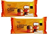 Marks and Spencer 32 Milk Chocolate & Orange Teacakes | 16 x 2 Packs Tea Cakes | 2 x 280g | M&S Food