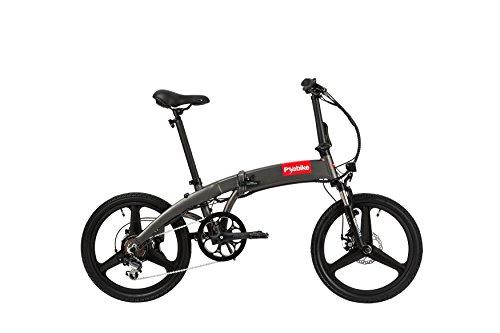Kompakt Klapprad E-Bike Faltrad Elektrofahrrad E-Faltrad ebike bis zu 75 km und 25 km/h (Grau)*