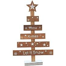 miniarbol de navidad de la marca hkfv con mensjae merry christmas ideal para decorar - Arbol De Navidad De Madera