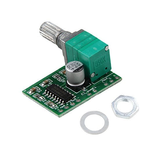 Mini PAM8403 Audio Amplifier Board 5V 2 Channel USB Power 3W Volume Control