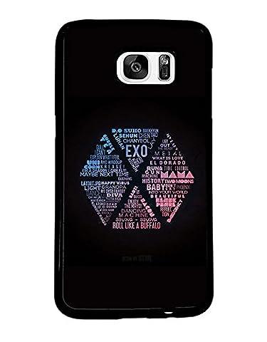 Band Logo Samsung Galaxy S7 Edge CoqueCase EXO Logo Solide for Man Woman EXO Logo Samsung S7 Edge CoqueCase Band Logo EXO Logo