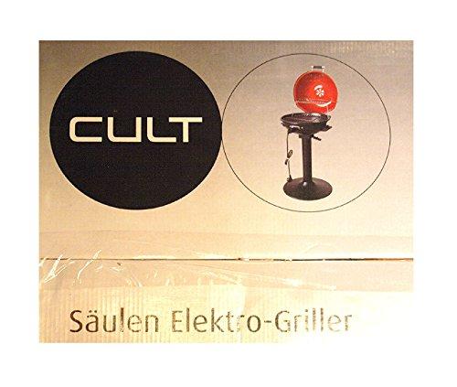 Cult Säulen Elektro-Griller 1350-1600 W - Durchmesser 38 cm - Höhe 70 cm