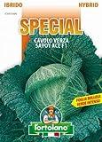 Sementi di ortaggi ibride e selezioni speciali ad uso amatoriale in buste termosaldate (80 varietà) (CAVOLO VERZA SAVOY ACE F1)