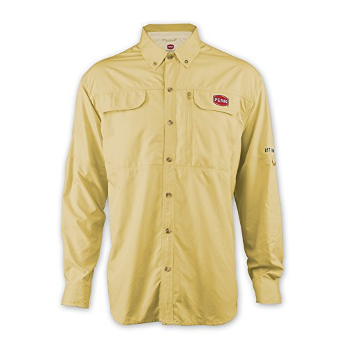 Penn Herren belüftet Performance Technische Lange Ärmel T-Shirt, Herren, gelb