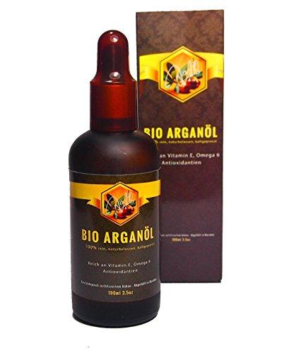 Jo.28 BIO Arganöl, 100% naturrein, kaltgepresst, für Gesicht und Körper, Anti-Aging, reich an Vitaminen A und E, Omega 6 und Antioxidantien, für alle Hauttypen, Originalabfüllung. GELD-ZURÜCK-GARANTIE!