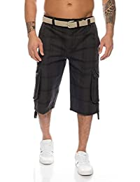 Herren Shorts Dehnbund Bermuda Kurze Hose Stretch Verschiedene Farben ID230