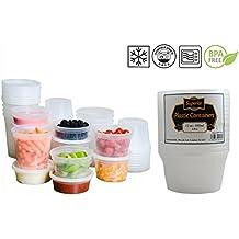 Recipientes de plástico para microondas y congelador, redondos, sin fugas, para guardar alimentos, plástico, 12oz - 355ml