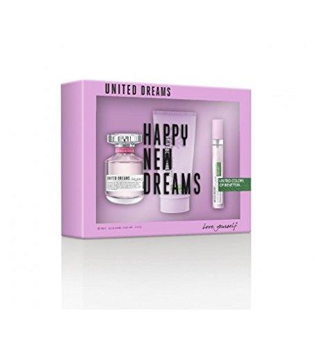 UNITED DREAMS HAPPY NEW DREAMS LOTE 3 PZ. EDT VAPO 80ML + LOCIÓN HIDRATANTE PARA EL CUERPO 100ML + EDT VAPO 15ML.