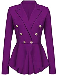 Blazer Style Militaire Femme Slim,Overdose Soldes Hiver Veste Casual  Workwear Chic Smoking Suit Outwear 7c37452b352a