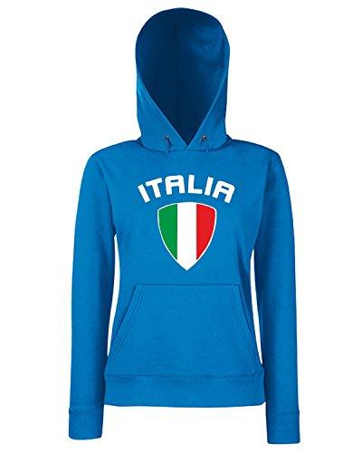 T-Shirtshock - Sweats a capuche Femme WC0144 ITALIA ITALY Bleu Royal