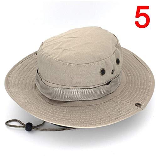 AROVON Cap Outdoor Leinwand Militär Panama Safari Sonnenhüte Sommer Männer Frauen Camouflage Eimer Hut Mit String