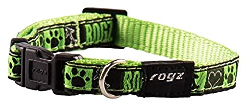 Rogz Jellybean Collar Fancy Dress, Small, Lime