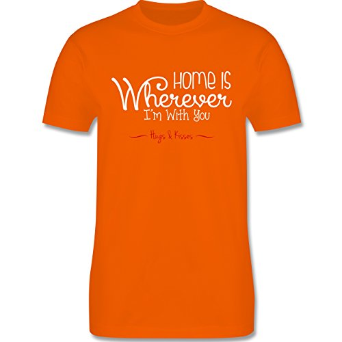 Statement Shirts - Home Is Wherever I'm With You Hugs & Kisses - Herren Premium T-Shirt Orange