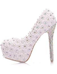 YAN Las Mujeres de Aguja de Primavera otoño Moda Zapatos de Baile PU Encaje  Rhinestone Impermeable Plataforma… 2e51d2a9fe88
