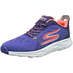 Skechers Performance Go Run Ride 6, Zapatillas de Deporte Exterior para Hombre, Azul (Blue/Orange), 42.5 EU