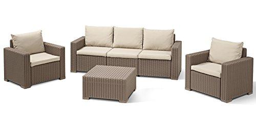 Allibert california garden set seats 5 cappucinno for Sofas de ratan para jardin