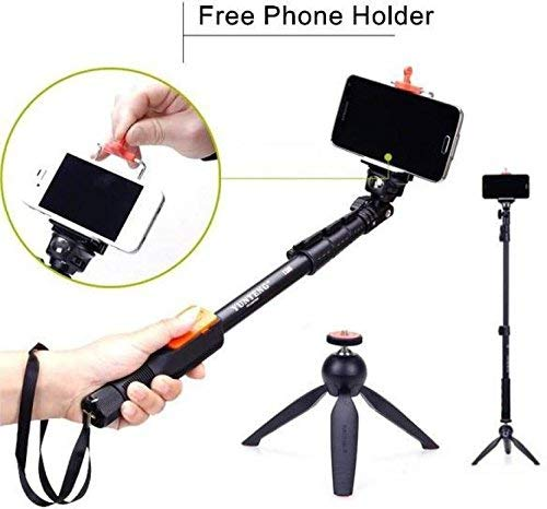 AVMART PHONE SINGLE PORTABLE TELEPHONE CAMERA CLIP STAND AND MINI Tripod Tripod(Black, Supports Up to 0.700 g) 3