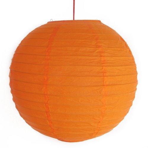 2 lanternes de papier orange
