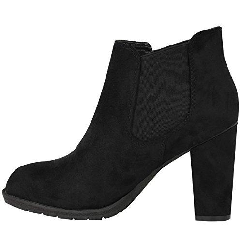 Bottines cheville pour femmes habillé Noir Daim Synthétique