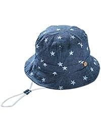 EOZY Unisex Stern Sonnenschutz Sonnenmütze Hut mit Kinnband