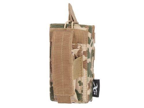 BE-X Kombi-Magazintasche für CQB, MOLLE, für je 1 M4/M16 u. Pistolen Magazin - BW tropentarn (Cqb-magazin)