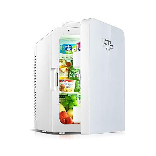ZHAS Réfrigérateur de Voiture 20L Mini réfrigérateur Petit congélateur Portable boîte Froide Mini réfrigérateur de réfrigération dortoir (Couleur: Bleu, Taille: Dual Core)