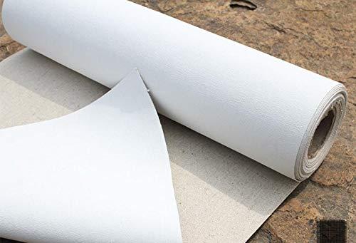 Rollo de tela virgen para pintura mezcla de lino, longitud: 5 m, algodón, 58 cm ancho