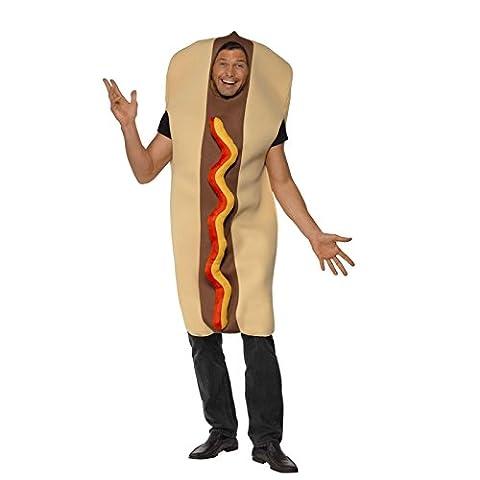 Adult Mens Novelty Fast Food Giant Hot Dog Fancy Dress