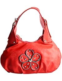 SPERO ™ Women's Stylish Zip Lock Casual Red Handbag With Free Shipping