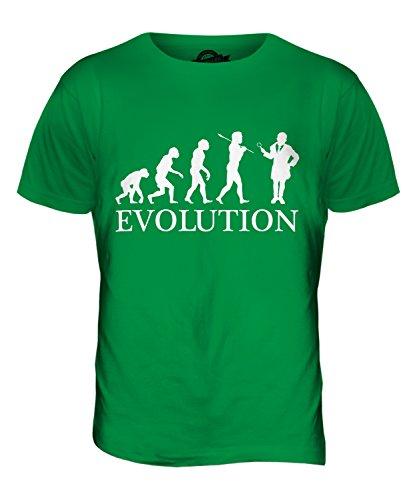 CandyMix Detektiv Evolution Des Menschen Herren T Shirt Grün