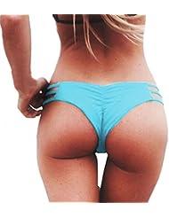 Amlaiworld Mujeres Moda Tejido Vendaje Pantalones de ropa interior (Azul, L)
