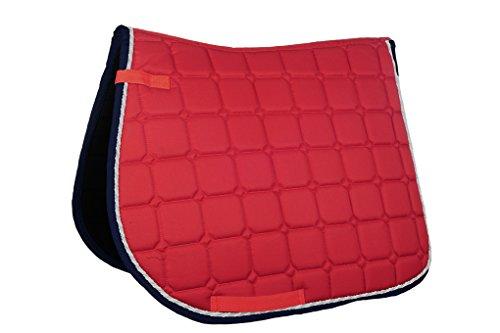 HKM Sports Equipment GmbH Schabracke-Madrid Sattel-& Zaumzeug, rot, Pony Dressur