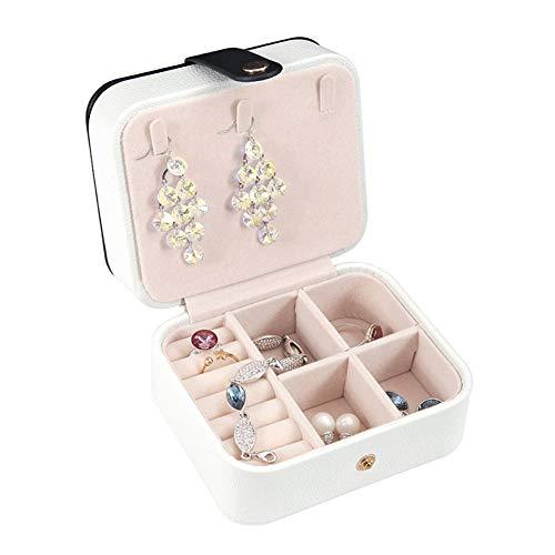 Kleine schmuckschatulle veranstalter mini reise schmuckschatulle eingebauten spiegel tragbare leder schmuck aufbewahrungsbox damen aufbewahrungsbox, Für Mädchen, Frauen -