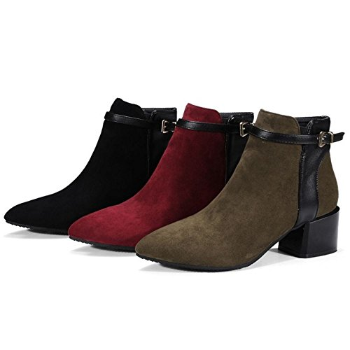 Zanpa Femmes Mode Bootie Chaussures Western Bottes green