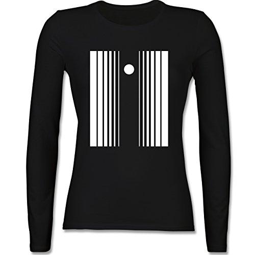 Karneval & Fasching - Doppler Effekt - XL - Schwarz - BCTW013 - tailliertes Longsleeve / langärmeliges T-Shirt für (Effekt Kostüm Doppler Der)